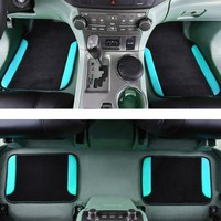 Car pass 2019 4pcs/set Car Floor mats For AUDI BMW Toyota Car styling Foot mats carpets accessories Universal fit Automobile Mat