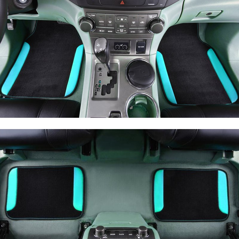 Car-pass 2018 4pcs/set Car Floor mats For AUDI BMW Toyota Car styling Foot mats carpets accessories Universal fit Automobile Mat colts car floor mat set of 2 nfl