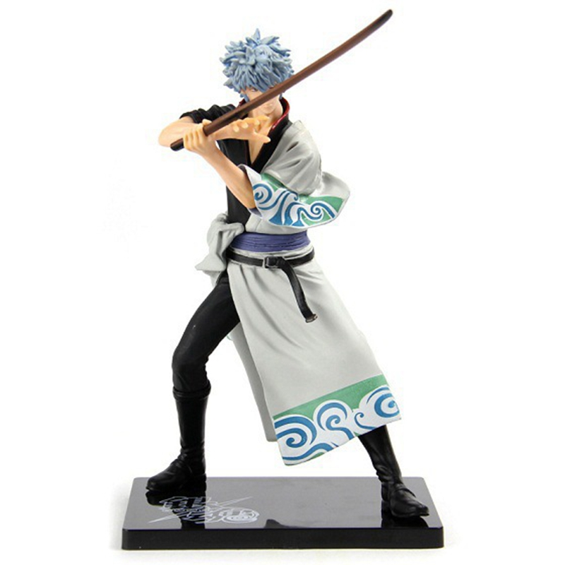 Anime Gintama 17 cm PVC Action Figure Collection Model Toy Gintama Sakata silver Doll toys Free Shipping anime one piece dracula mihawk model garage kit pvc action figure classic collection toy doll