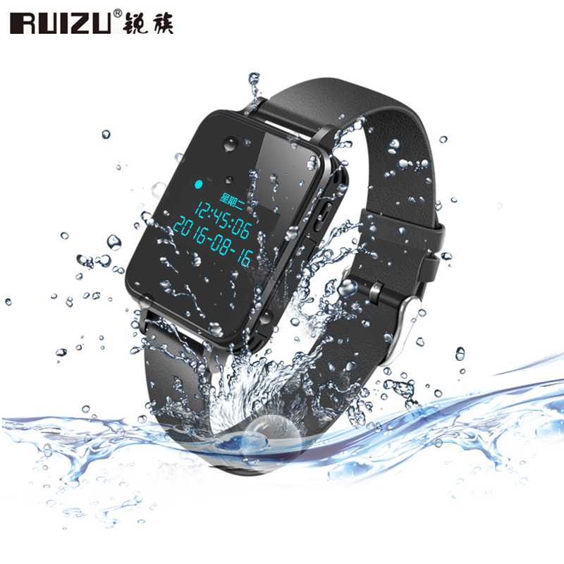RUIZU K18 MP3 Player Bluetooth Waterproof Digital Voice Recorder 16GB/8GB Wristband HiFi Lossless Music Watch Noise Reduction electrostatic spray gun hv generator cascade high voltage transformer for gema