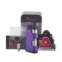 Original TESLACIGS Tesla Stealth Mini 45W Electronic Cigarette Kit 1300mah Box Mod With Shadow Mini Tank