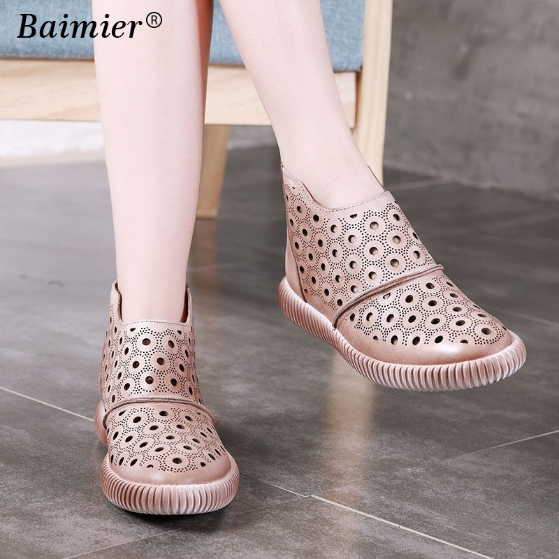 High Quality Flats Casual Genuine Leather Loafers Women Shoes Comfortable Zipper Close Mesh Shoes Vintage Style Women Footwear clementoni пазл hq лондон красная телефонная будка 500