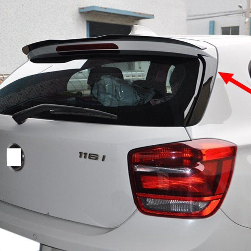 Spoilers For <font><b>BMW</b></font> <font><b>F20</b></font> 2012-2018 1 One Series 120i 125i <font><b>118i</b></font> M135i 116i <font><b>F20</b></font> Black Painted Rear Wings Roof/Top Spoiler <font><b>F20</b></font> Spoiler image