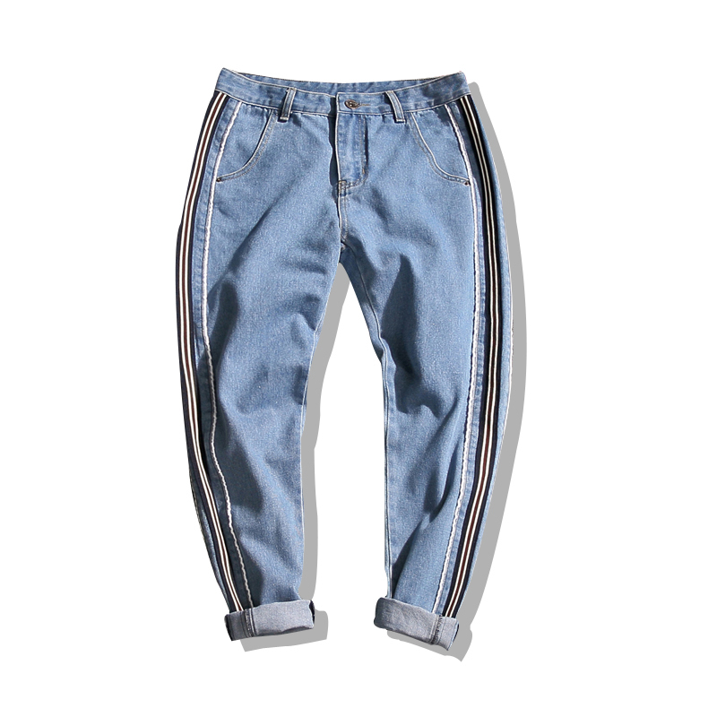 2018 autumn Jeans male Korean version of the trend straight leg 9 pans wear new teenage student Free shipping