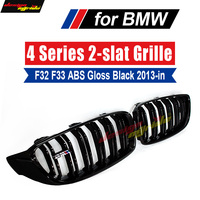 Pair Front Car Hood Kidney Sport Grills Grille For BMW F32 F33 F36 4 Series 420i 425i 430i 435i 440i ABS Gloss Black 2013 2018