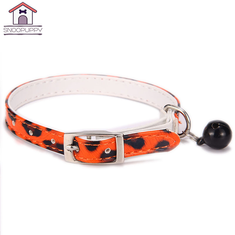 Dog Collars For Kitty Lovely Dogs Cat Bell Collar Durable PU Leather Collar Suit For Small Medium Dogs Pets Accessories JW0042