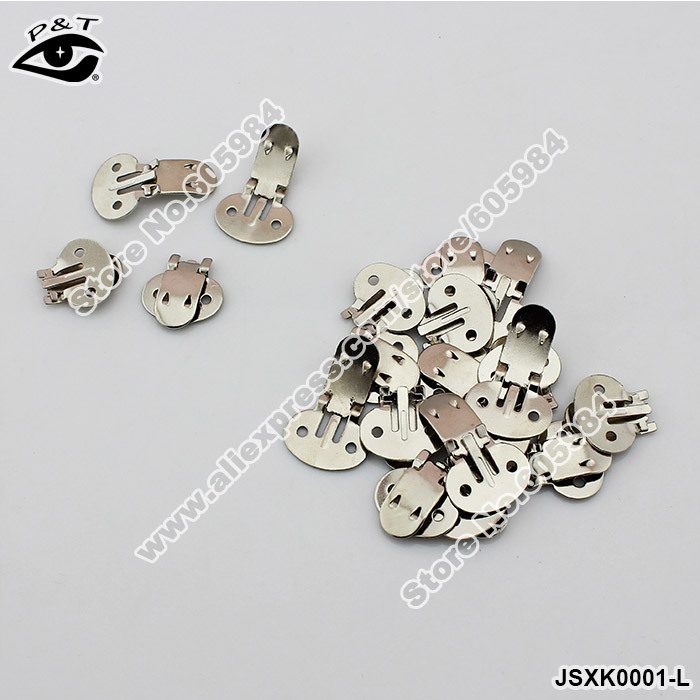 Free Shipping 100pcs/lot 30x20MM Manganese Plate Shoe Clips Decorative Shoe Metal Buckles DIY Shoes Decoration Accessories