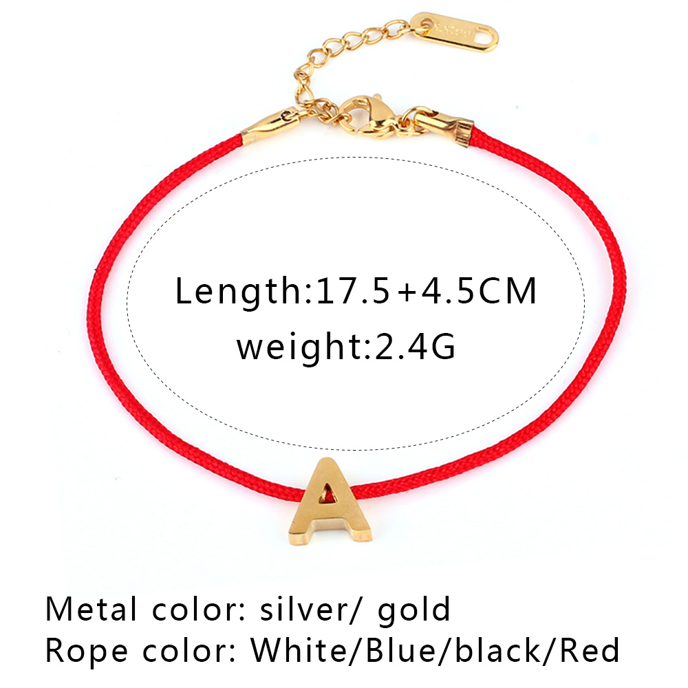 6339721a9ad5e US $0.94 53% OFF|ZUUZ Red String Letter id bracelets bangle couple for  women stainless steel jewelry accessories silver gold charm men  friendship-in ...