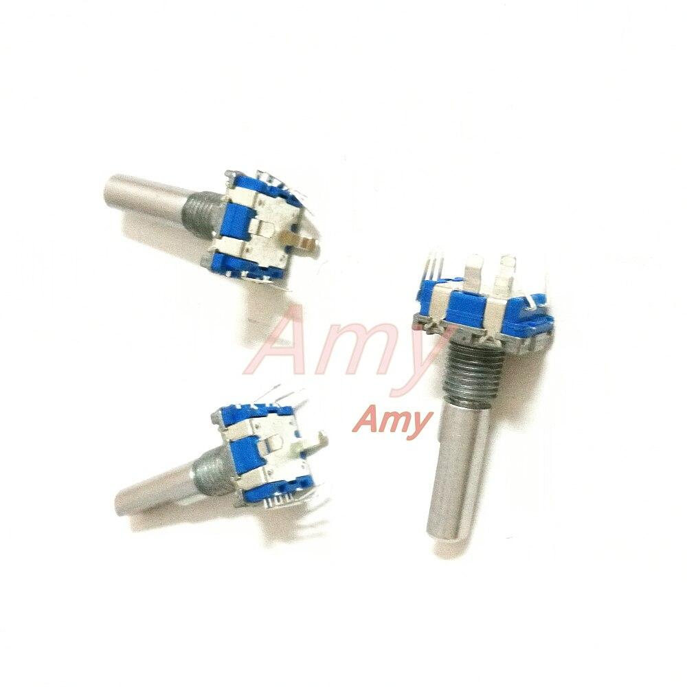 50pcs lot 360 degree encoder switch EC11 digital pulse potentiometer 20 posioning number 20 pulse shank