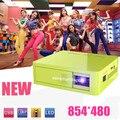 Бесплатная доставка новые DLP 800 lumens встроенный аккумулятор мини из светодиодов видео HD портативный pico кпк домашнего кинотеатра