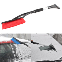 Car Winter Ice Scraper Snow Brush Auto Truck Window Retractable Shovel Removal Brush Shovels Squeegee 2 in 1 Cleaner Tool 1Pcs