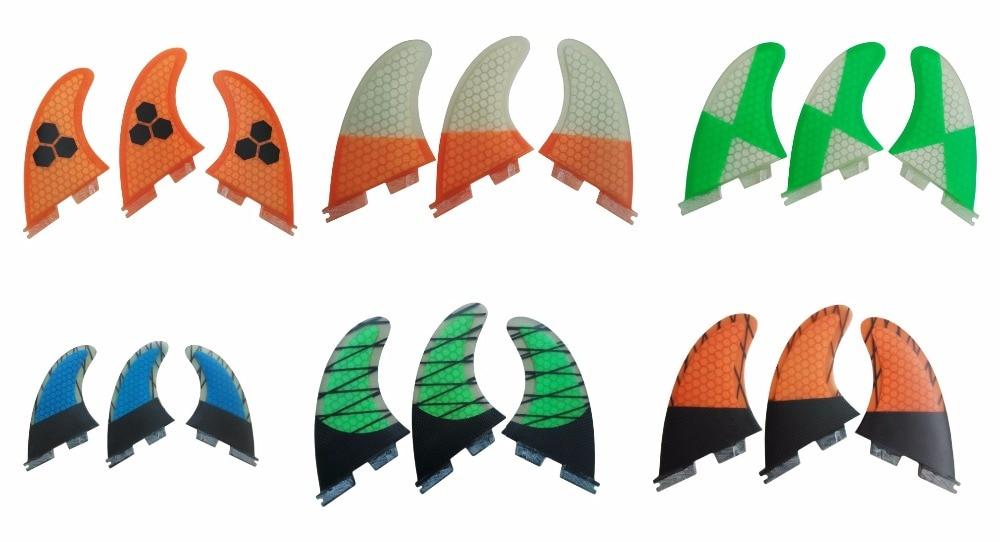 цена на Surfing FCS/FCS2 G5 Fin Quilhas Surfboard Fins Orange Surfing Fins Honeycomb Carbon Fiber Fin