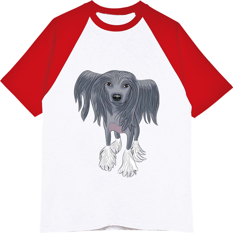 Summer Male Cool Shirts Hip Hop Unisex Tees Funny Crested Dog Printed T-shirt Men's Casual Cotton Raglan Sleeves O-neck T Shirt