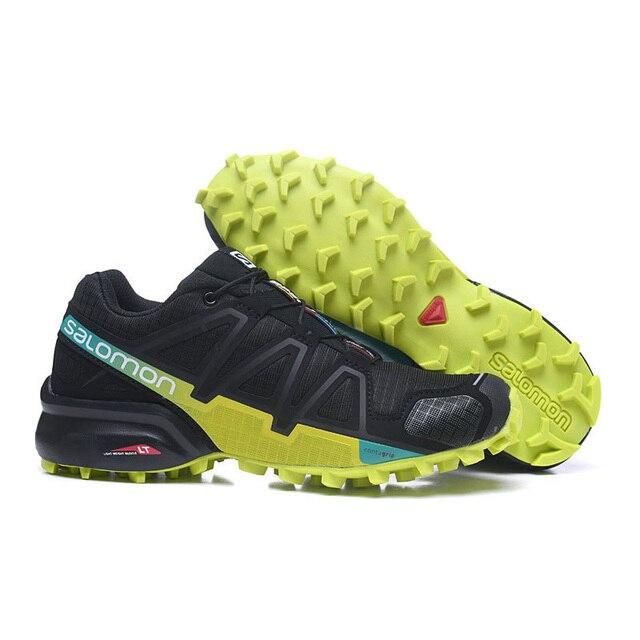 3f60ba238c4 Salomon Men's Speedcross 4 GTX Trail Runner Spare Quicklace Bundle Canvas  Lace-up Medium Cut Sport Shoe Outdoor Lawn Size 40-47