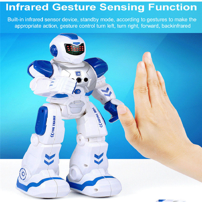 Intelligent Robot Dancing RC Remote Control Robot Smart Action Infra-red Allows Gesture Control Kids Toy for Child birthday Gift jjrc rc robot kids toy 2 4g intelligent programming gesture sensor singing dancing display candy action figure robots toy