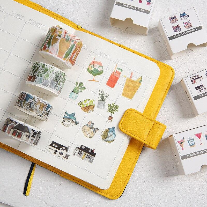 Ninja Cat House License Plate Cocktail Decorative Washi Tape DIY Scrapbooking Masking Craft Tape School Office Supply