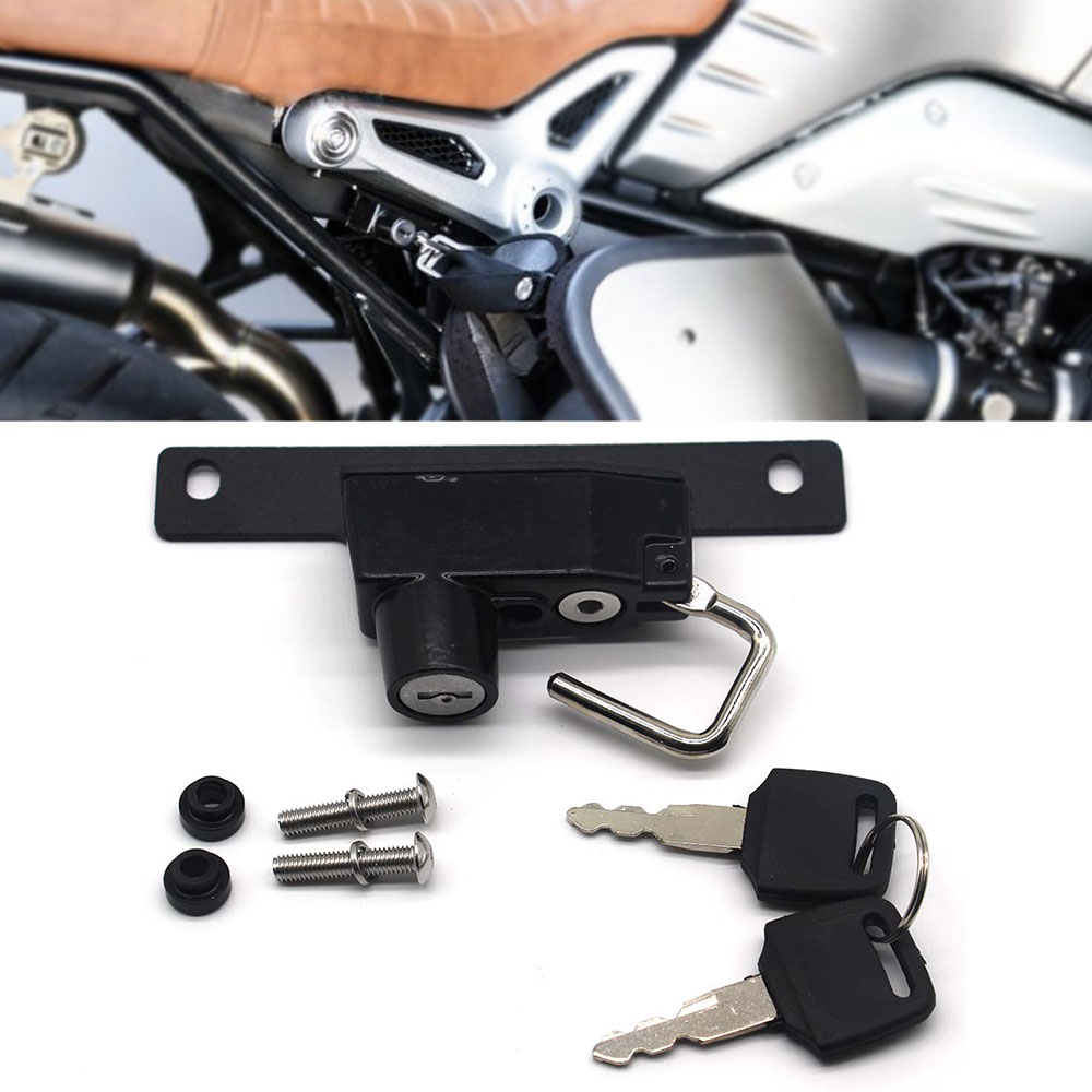 Motorcycle Helmet Lock For BMW R Nine T Models 2014 2015 2016  Motorcycle Left Side Alloy Helmet Lock Mount Hook Universal
