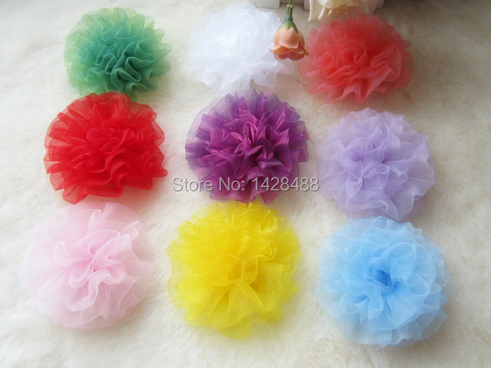 aliexpresscom buy 30pcs mix colors organza sheer carnation flowers 8cm for corsage brooch headwear hair bows diy garment accessories from reliable - Carnation Flower Colors