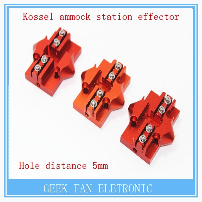 3 pcs kossel 3D printer accessories all-metal Delta pulley slip regulation hammock station effector set Delta 20X20mm for kossel