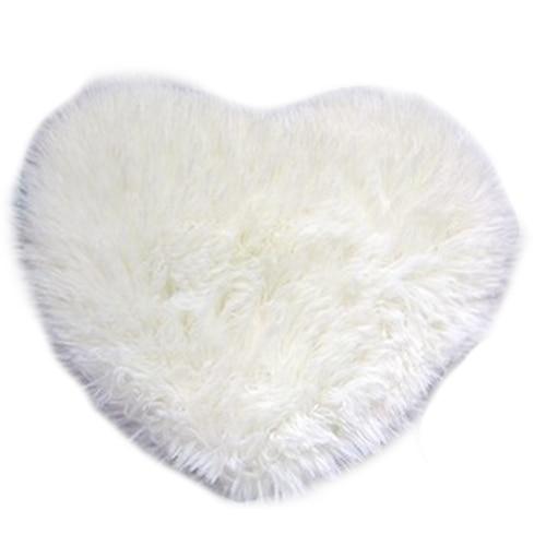 Fashion Modern Decorative Shaggy Heart Soft Faux Fur Rug