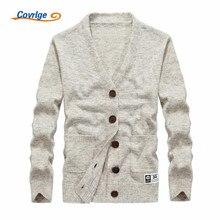 Covrlge 2017 männer Pullover Einfarbig V-ausschnitt Pocket Cardigan Herbst Winter Pullover Kostenloser Versand Herren Kleidung M-3XL MZM006