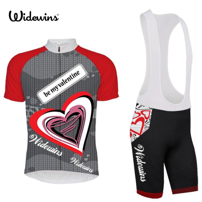 Team pro be my valentine cycling jersey set ropa ciclismo skinsuit bike jersey tmb cycling bib shorts cycling sets clothing 5326