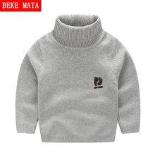 Dziecięce swetry zimowe 2020 Casual dziergane swetry z golfem dla dziewczynek ciepłe chłopięce swetry bawełniane dziewczęce swetry tanie tanio BEKE MATA COTTON Na co dzień Stałe REGULAR Unisex CSW032 Pełna NONE Pasuje prawda na wymiar weź swój normalny rozmiar