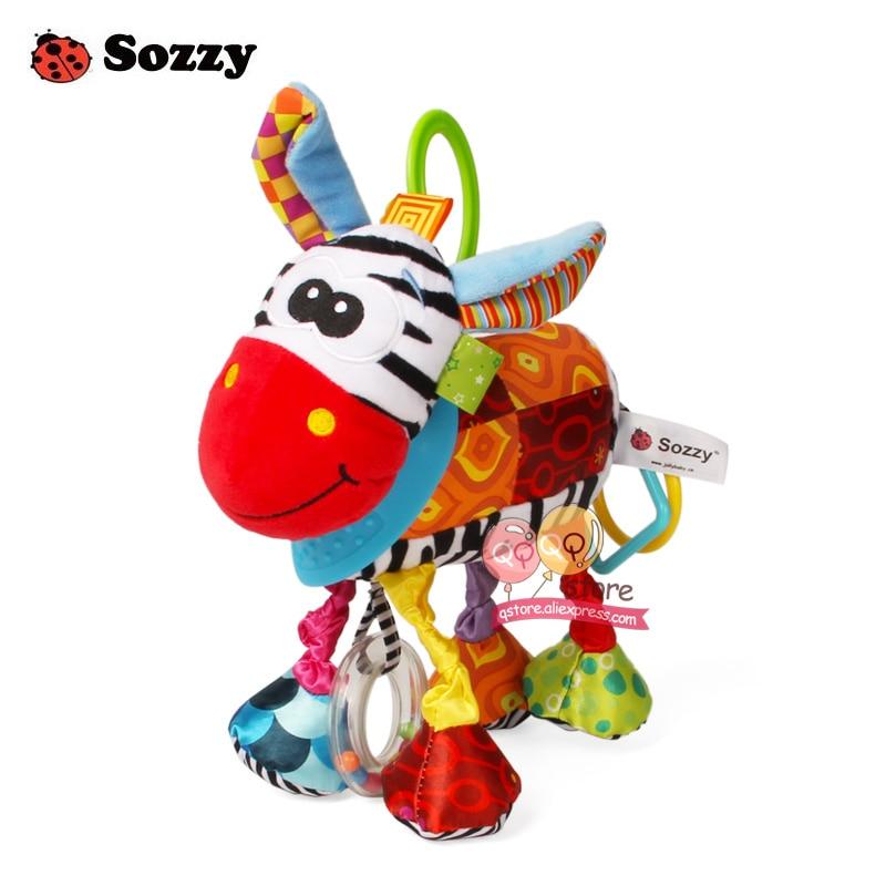 Sozzy Indah Mewah Boneka Binatang Bertekstur Lembut Bed Crib Stroller - Mainan balita - Foto 2
