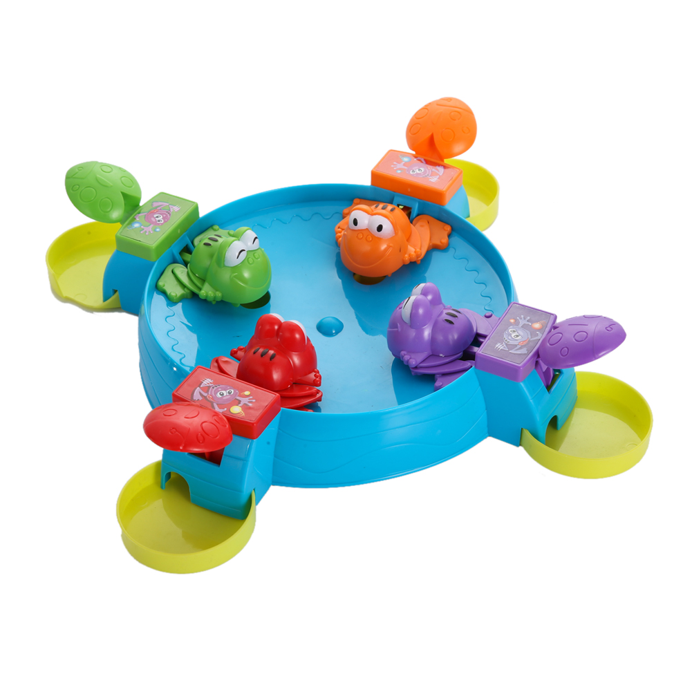 Kids Game Board Multiplayer Plastic Board Game Parent Child Interaction Feeding Small Frog Child Educational Toys creative kids toys tumbling monkey game falling toy tumbling monkey parent child interactive learning educational toys for child