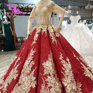Image 3 - AIJINGYU ウェディングドレスウクライナガウンショートプラスサイズヴィンテージブラシレースと Bridals 価格既製ガウン Weddimg ドレス
