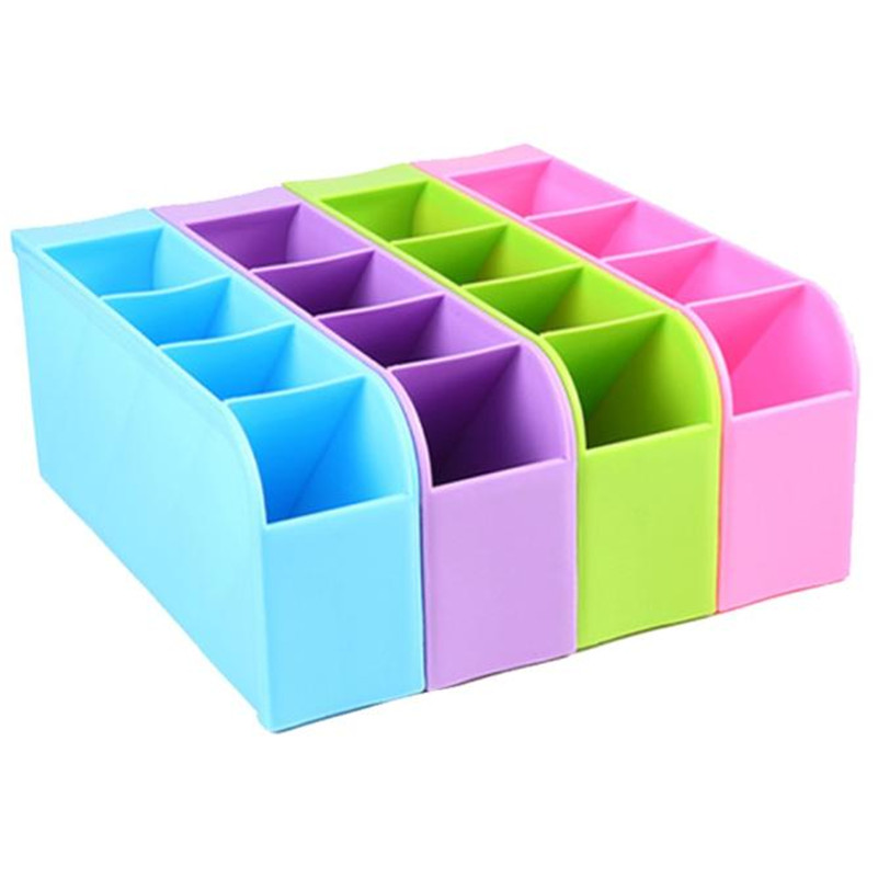 A4 Plastic Organizer Storage Box For Tie Bra Socks Drawer Cosmetic Kitchen Free shipping wholesale