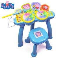 Peppa pig обучающий игрушечный музыкальный инструмент барабанный барабан детские игрушки для мальчиков и девочек моделирующий барабан детска