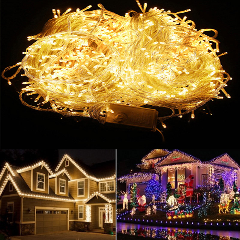50M 400LEDs Led String Lights Fairy Holiday Outdoor Decorative Lightcontroller for Party Wedding Garden Xmas Building 110V 220V