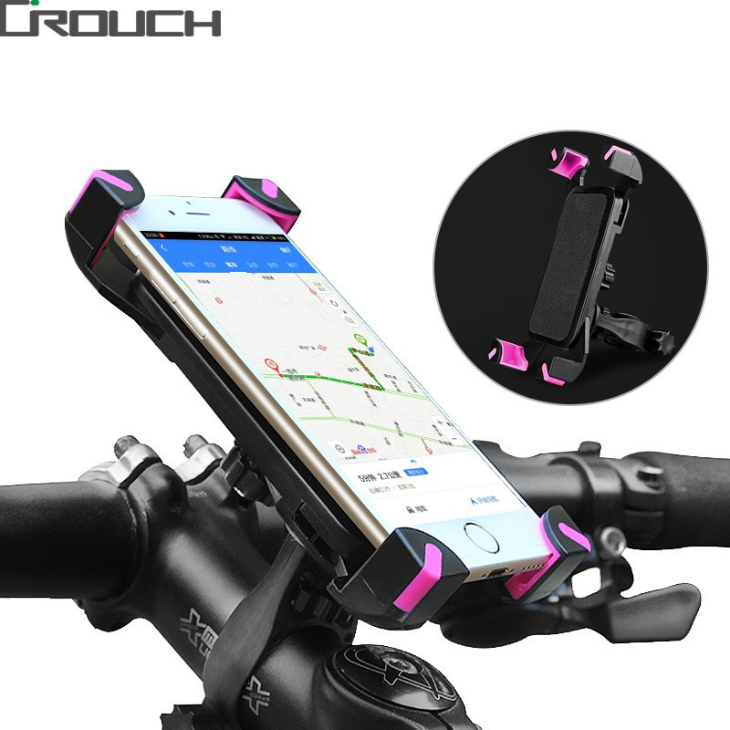 Phone Holder Universal Bicycle Bike Handlebar Clip Stand Mount Bracket For iPhone 3.5-6.5 inch Phones Holders 360 Rotate
