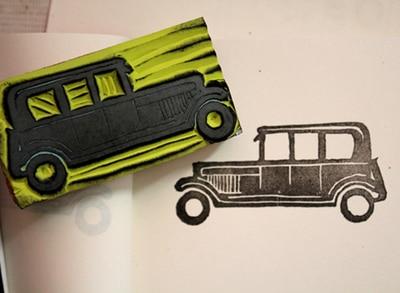Personnalisé Bus tampon en caoutchouc logo + 1 pcs tampon encreur pour carte de mariage / carimbo personalizado / carte / décoration / boutique chapitre, Personnalisé dans Timbres de Bureau et des Fournitures Scolaires
