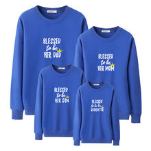 df08a79f18 blessed to be her dad mom daughter son hoody for family outfits matching  clothes father mother