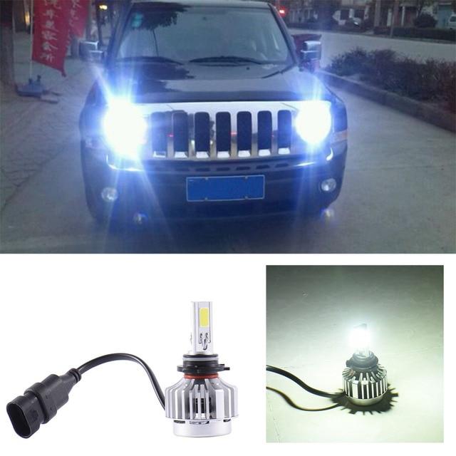 Excellent Quality 6000K COBx3 LED Headlight Plug Play 72w 6600LM 9006 Bulbs Led 12v Beam Headlamp Car For Most Cars
