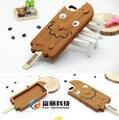 2016 mais novo dos desenhos animados 3d adorável ice cream chocolate picolés capa silicone case para iphone 6 6 s 6 + plus 5 5S