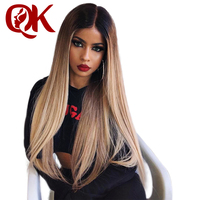 QueenKing Hair Brazilian Remy Ombre Blonde Lemi Color Wig 150% Density Natural 27 Full Lace wig Free Shipping ,Wigs for women
