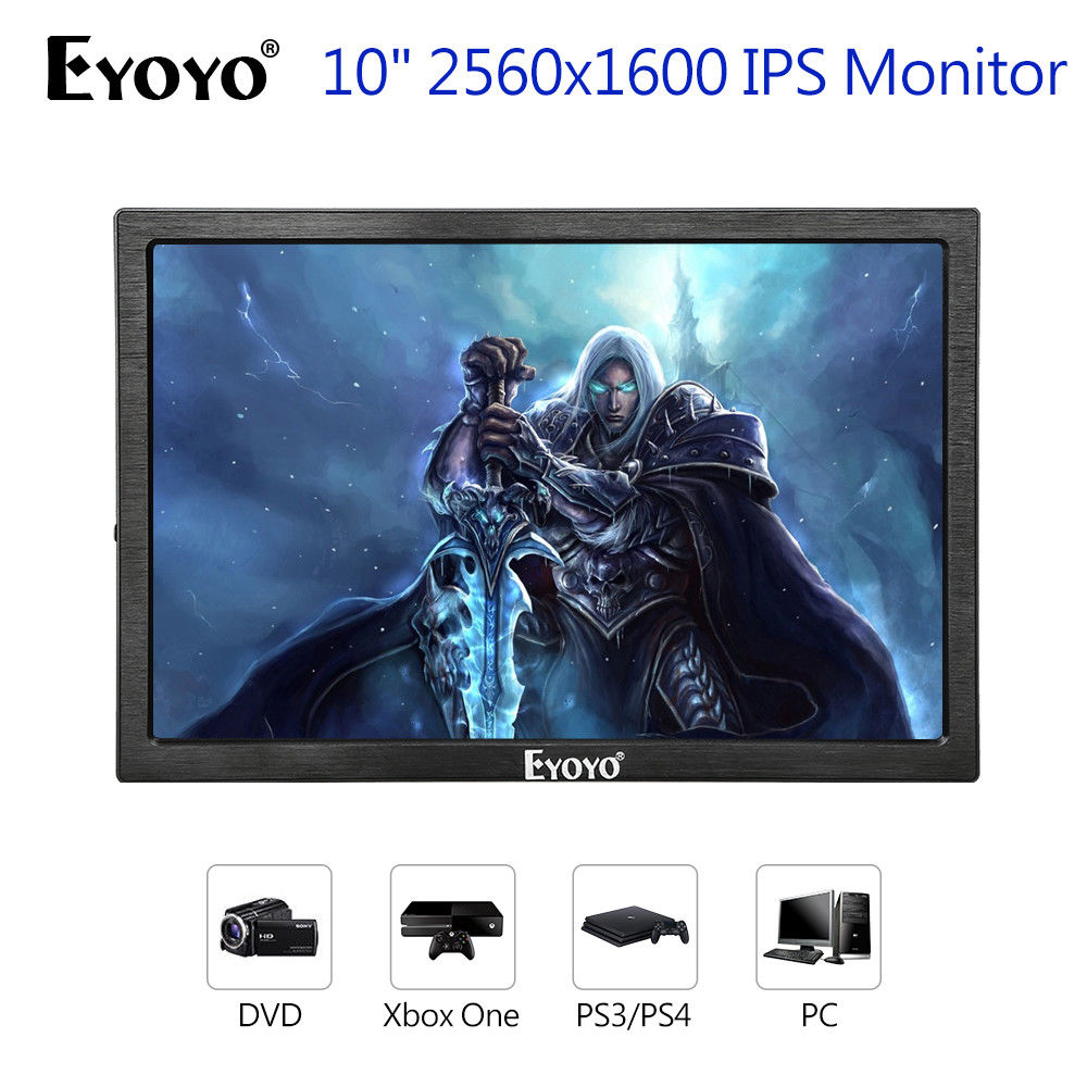 EYOYO 10 2560x1600 IPS Gaming Monitor Dual HD Input 8BIT 1080P Built-in Speakers Black For PC DVD PS2 PS3 PS4 Xbox One Xbox360 ...
