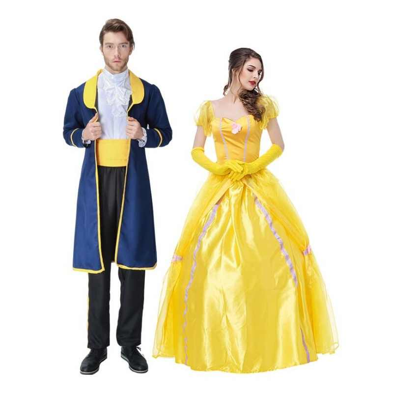 457e87658b62 ... Vestido amarillo de princesa para adultos, ropa de reina de corte, disfraz  de mujer ...