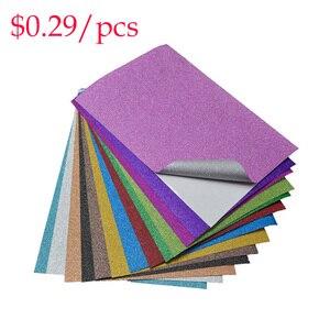 Diy Decoration Glitter Adhesive Sheets Scrapbooking 10pcs/Bag Craft Sticker Film Mix Color Pattern