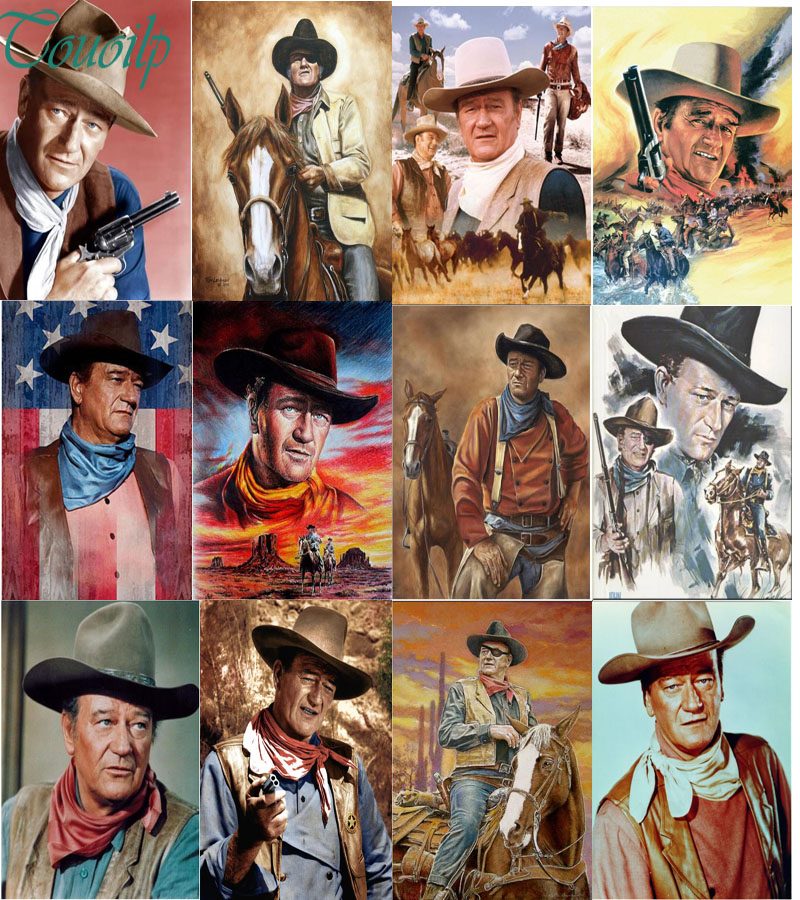 Diamond Painting Mosaic-Decoration Celebrity Cross-Stitch Rhinestone John Wayne Full