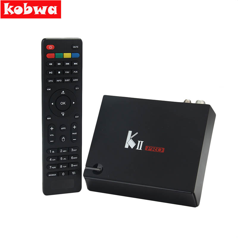 KII PRO DVB T2 Android Set Top Box 2GB 16GB DVB-T2 DVB-S2 Android 5.1 Amlogic S905 5.0G WIFI K2 pro 4K Smart TV Receiver Box i box rs232 dvb s satellite smart sharing nagra 3 dongle black