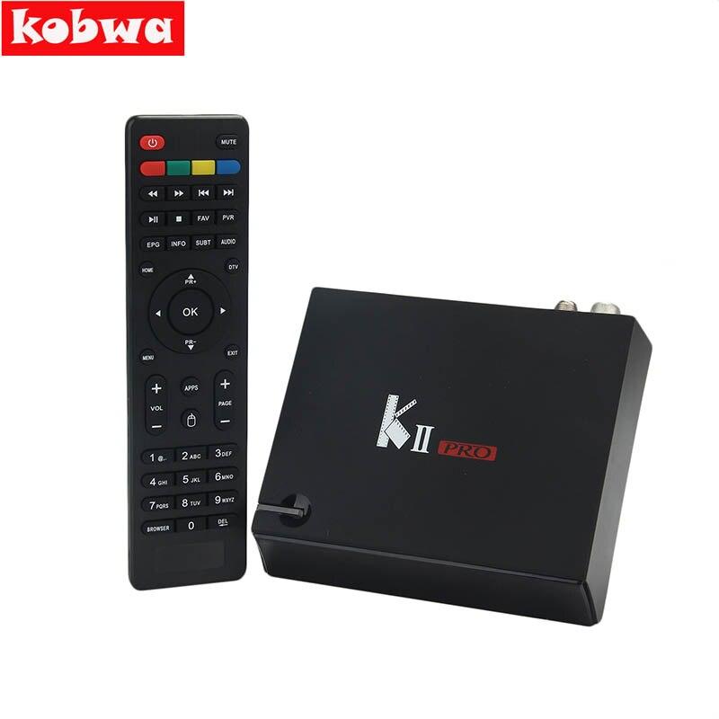 KII PRO DVB T2 Android Set Top Box 2GB 16GB DVB-T2 DVB-S2 Android 5.1 Amlogic S905 5.0G WIFI K2 pro 4K Smart TV Receiver Box 10pcs kii pro 2gb 16gb dvb s2 t2 5 1 android tv box amlogic s905 quad core support dvb s2 dvb t2 smart media player