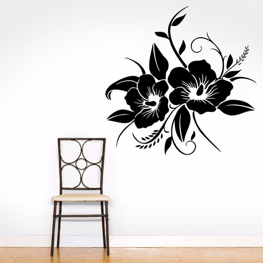 Rose Flower Wall Sticker Home Bedroom Decoration Art Mural Removable Wall Decal Flower Design Home And Office Decor Poster AY484