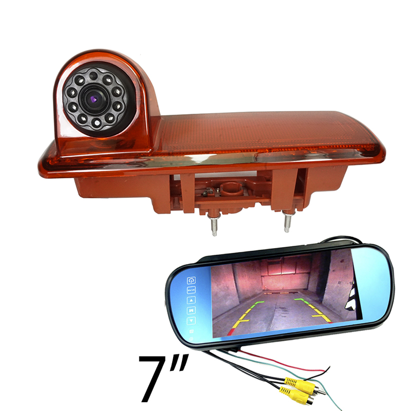 CCD car Brake Light Rear view camera For Opel Vivaro VAUXHALL Renault Trafic 2014 reverse back camera monitor IR night vision-in Vehicle Camera from Automobiles & Motorcycles    1