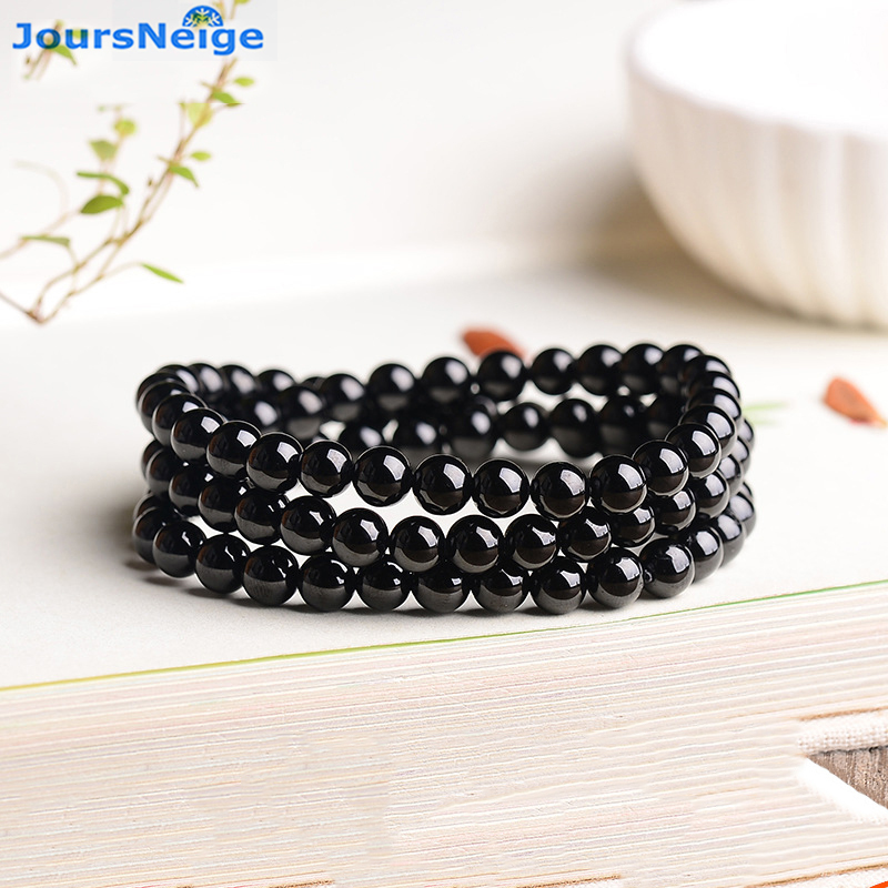 ae088278ae1b Venta al por mayor fina JoursNeige negro turmalina Piedra Natural  afortunado para las mujeres hombres moda pulsera Simple joyería -  a.jonzee.me