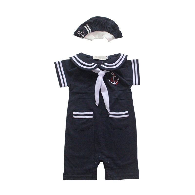 NewBorn-Baby-Dress-Summer-Cotton-Bow-Baby-Rompers-for-girls-Kids-Scarf-Navy-Overall-Bebes-Sailor-Style-Jumpsuit-baby-cloth-baby-2