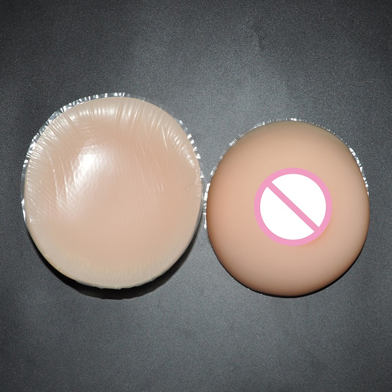 3200g/pair Silicone Artificial Breast Drag Queen Fake Breast Enhancers Shemale Transgender and Crossdressing Breast Form round shaped sexy beauty silicone breast enhancers bra inserts light brown pair